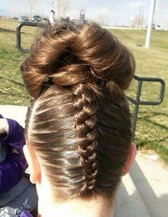 Super Gymnastics On Pinterest Gymnastics Hair Gymnasts And Buns Hairstyles For Women Draintrainus