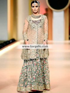 03e7a9816 Angrakha Style Special Occasions Dresses with Sharara and Dupatta ...