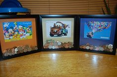 Shadow box banks. Awesome! I need to make each of the kids one of these for Christmas.