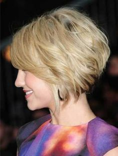 Stacked Wavy Bob Haircut