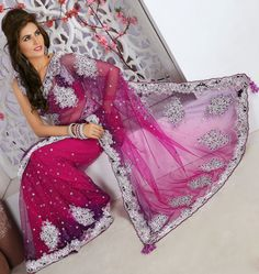 Pink Net #Designer #Wedding #Saree Blouse | @ $363.06