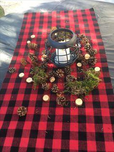 Lumberjack - Buffalo plaid birthday party theme