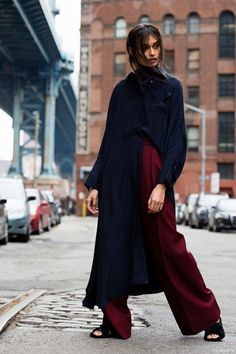 Style Tip: Half-tuck long layers for a cool shirt and trouser look
