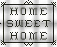 Free Home Sweet Home Saying Cross Stitch Pattern