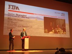 Stellan Skarsgård has won the Fipa d'or, Best Actor, for @RiverTheSeries, accepted here by director @Dickietricky