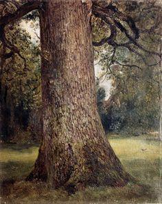 John Constable, 'Study of the Trunk of an Elm Tree', olio su tela, Victoria and Albert Museum, Londra. Winter Drawings, Elm Tree, National Gallery, Black And White Canvas, Victoria And Albert Museum, Tree Art, Landscape Paintings, Art Paintings, Landscape Art
