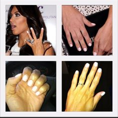 My KimKardashian Inspired White Gel Manicure In Love New Summer Fav Gelmanicure Whiteshellac Kimkardashian