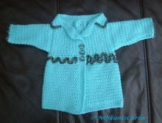 Hand Crocheted and decorated Newborn Baby Jacket. Baby Hands, Latest Tops, Newborn Crochet, Beautiful Gifts, Hand Crochet, November, March 2014, Water, Pretty