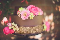 Moroccan inspired wedding cake // Planning, Design, & Florals: Morgan Gallo Events / Photographer: Memories N More Photography / Cake Baker: Something Sweet Bakers  // see more: http://theeverylastdetail.com/2013/09/17/moroccan-jewel-toned-wedding-inspiration