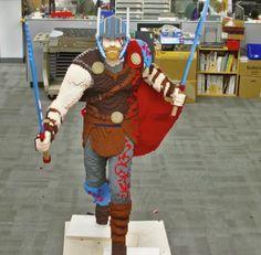 Watch: LEGO Master Builders Construct Life Sized Thor: Ragnarok Statue