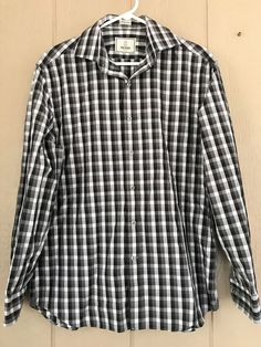 Todd Snyder Button Down Dress Shirt Long Sleeves Plaid Multi-Color Size 16 32/33 #ToddSnyder