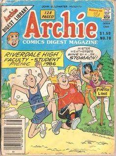 Archie Comics Digest Magazine 78, Archie Comic Publications, Inc. https://www.pinterest.com/citygirlpideas/archie-comics/
