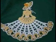 Vestido a crochet para tapete de muñeca - YouTube