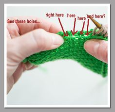 Knitting Picking Up Stitches Under Arm : 1000+ images about Knit T&T - Pick up stitches on Pinterest Stitches, K...