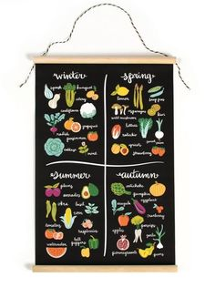 These Charts Are Seasonal Guides to Vegetables, Fruits, and Flowers