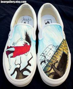 Circa Survive Shoes. $135.00, via Etsy.