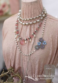 Necklaces and brooch by Shabby French Home