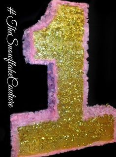 Pink And Gold First Birthday Number One By TheSnowflakeCouture