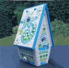 Mosaic Birdhouse A Special Gift for Bird Lovers  Free by carolvs40