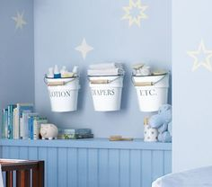 Cute idea for nursery storage