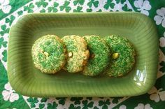 Gluten Free St. Patty's Pistachio Lime Sugar Cookies