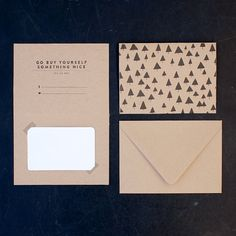 Letterpress Two-sided Gift Certificate Christmas Tree Card