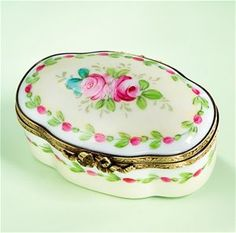 Limoges Early Spring Pink Roses Box The Cottage Shop