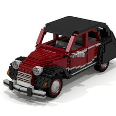 I propose, the 2cv charleston. The Citroën 2CV Charleston is a French car created in 1980, colored in red Bordeaux and black, this is a variation of the 2CV from 1950. It is a car with rounded shapes, very flexible and all-terrain suspension, engine 2 cylinder. The model is composed of 714 pieces, the doors the hood and trunk of the car open, The inside of the car and the engine its modelled. I hope that models will please the fans of 2cv.