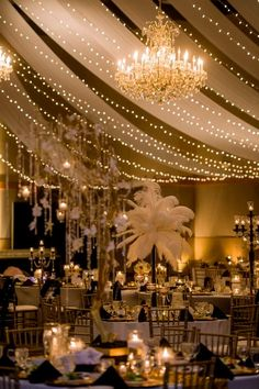Tables and ceiling backdrop look fantastic!