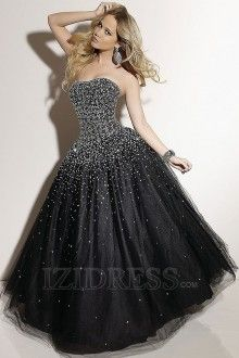 Ball Gown Sweetheart  Strapless Tulle Quinceanera Dress