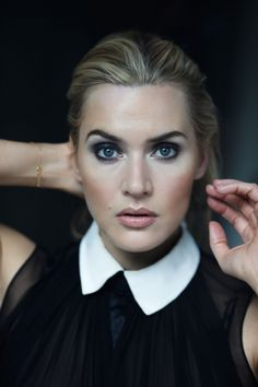 Kate Winslet hair makeup collar