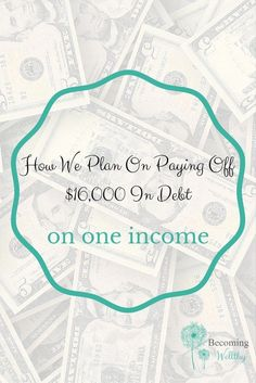 Here I show you how we budget using last month's income, and how we are actively paying down our $16,000 in credit card debt on one income