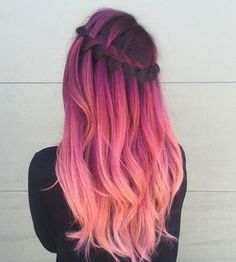 haarkleurtrend dames peach hair