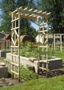 Arbor made from pallets