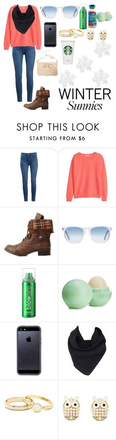 """Winter Sunnies"" by i-found-wonderland ❤ liked on Polyvore featuring Paige Denim, H&M, Charlotte Russe, Oliver Peoples, blow, Eos, Tavik Swimwear and A.L.C."