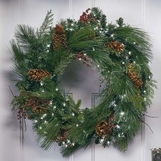 Decorate your indoor and outdoor space in verdant style with Christmas wreaths and garlands from Frontgate. Shop individual pieces and sets for effortless holiday decor. Holiday Wreaths, Christmas Decorations, Holiday Decor, Battery Operated Christmas Wreath, Window Swags, Pre Lit Wreath, Spray Can, Luxury Home Decor, White Light