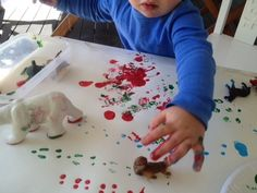 Animal Paint Tracks  kiddos would love this!