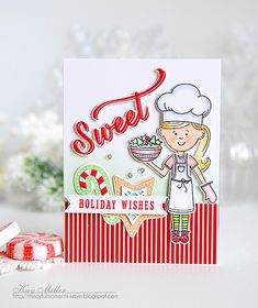 Sweet Holiday Wishes Card by Kay Miller for Papertrey Ink (November 2016)