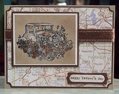 Handmade Father's Day Card Stampin Up Thoughts by WhimsyArtCards