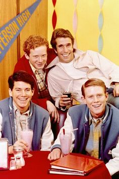 Ron Howard, Don Most, Anson Williams and Henry Winkler in Happy Days 24x36 Poster first season Silverscreen  $24.95 http://www.amazon.com/dp/B00PUMDSVG/ref=cm_sw_r_pi_dp_dBTUub046W2MM