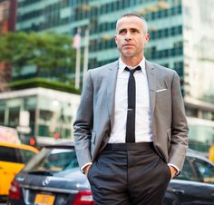 "How some men are staying stylish in summer's heat: ""I hate the heat,"" said Thom Browne. (Photo: Robert Wright for The New York Times)"