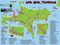 koh mak karte insel thailand golf