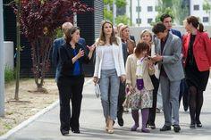 Princess Letizia - Princess Letizia  Visits the APROCOR Foundation