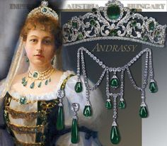 This royal tiara of emeralds and diamonds is a masterpiece of the jewelery of the Bourbon Restoration. Whats about the story of this… Royal Crowns, Royal Tiaras, Crown Royal, Tiaras And Crowns, The Crown, Bijoux Art Deco, Art Deco Jewelry, Royal Jewelry, Headpiece