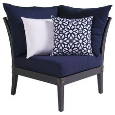 Set Of 4 Navy Blue Chair Cushions Pads Machine Washable | Chair Cushions |  Pinterest | Cushion Pads