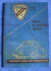 Manual Romi Isetta 1959 - - R$ 125,00 em Mercado Livre