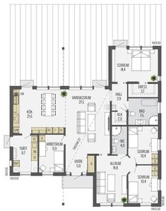 Villa, Swedish Style, House Floor Plans, Home Renovation, My Dream Home, Planer, Building A House, Sweet Home, New Homes