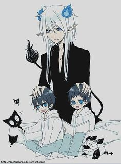 Sooo this is Satan huhhh.. Rin & Yukio Okumura's father?? We'll see in the manga what Satan really looks like...