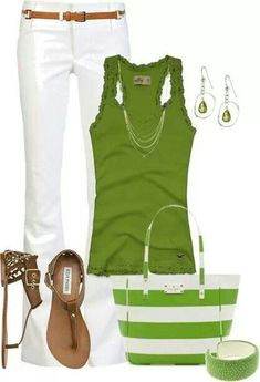 Lime green with white contrast looks crisp and fresh.