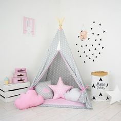 Teepee Set Kids Play Teepee Tent Tipi Kid Playhouse Wigwam